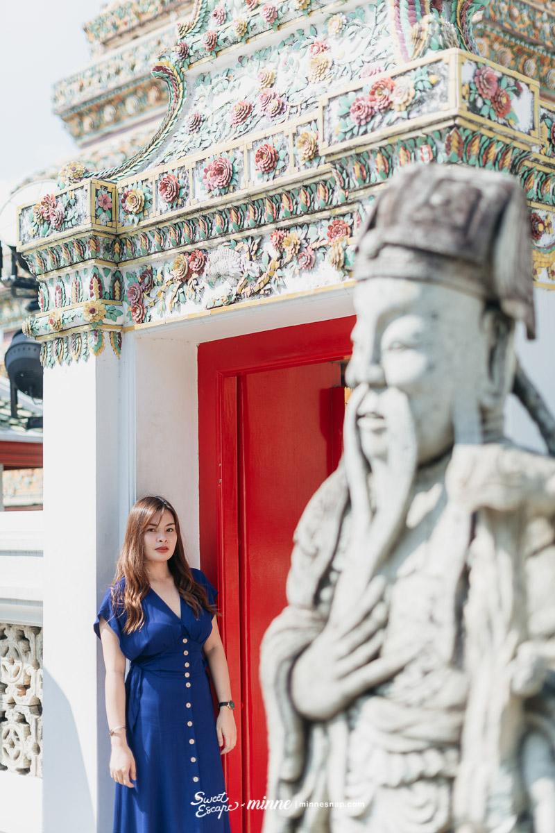 Wat Pho and Wat Arun Couple Photo with Tiara วัดอรุณราชวรารามราชวรมหาวิหาร และวัดพระเชตุพนวิมลมังคลาราม หรือวัดโพธิ์