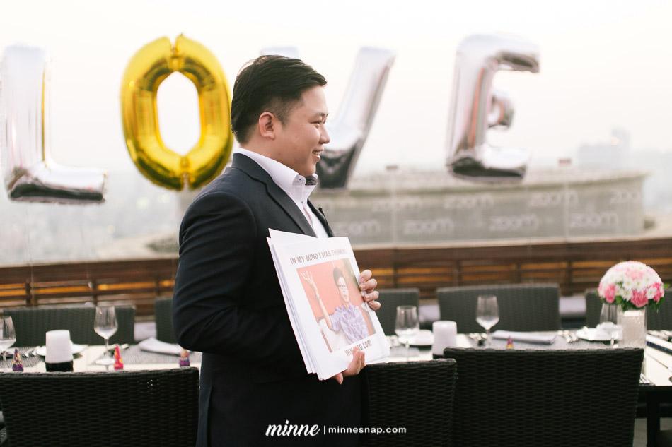 Marriage Proposal Bangkok at Zoom Sky Bar & Restaurant