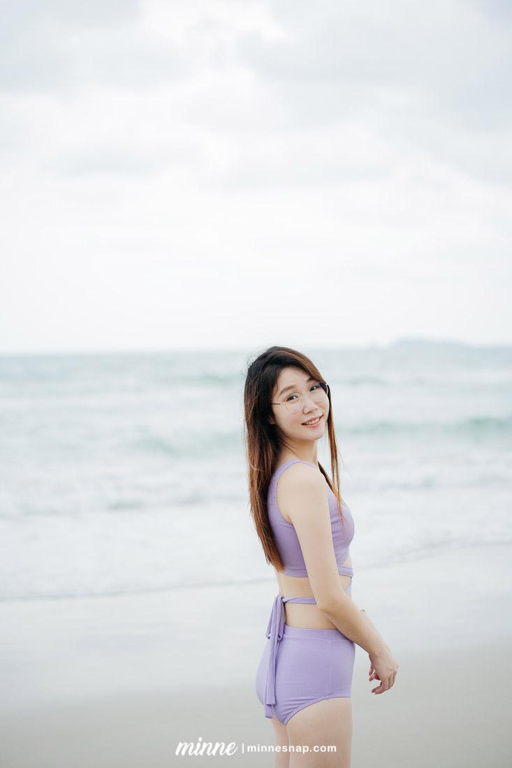 Rayong Beach Thailand with Bikini - เที่ยวทะเลระยอง