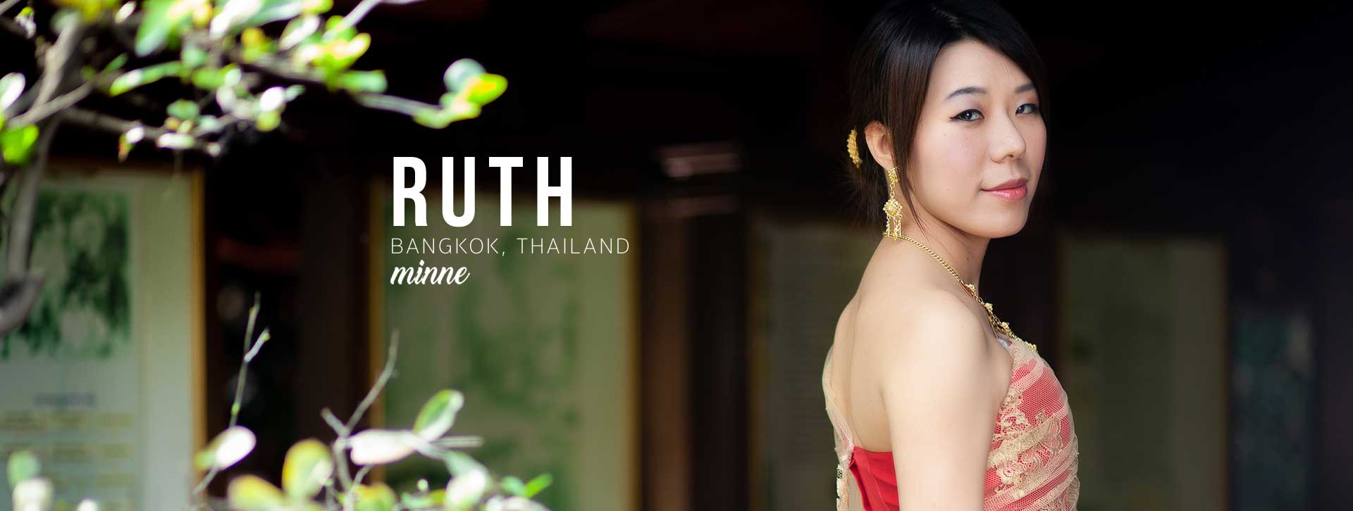 taiwan girl in thai traditional costume long cover