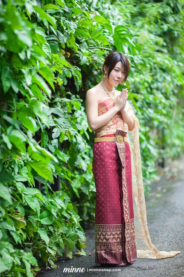 taiwan girl in thai traditional costume 7