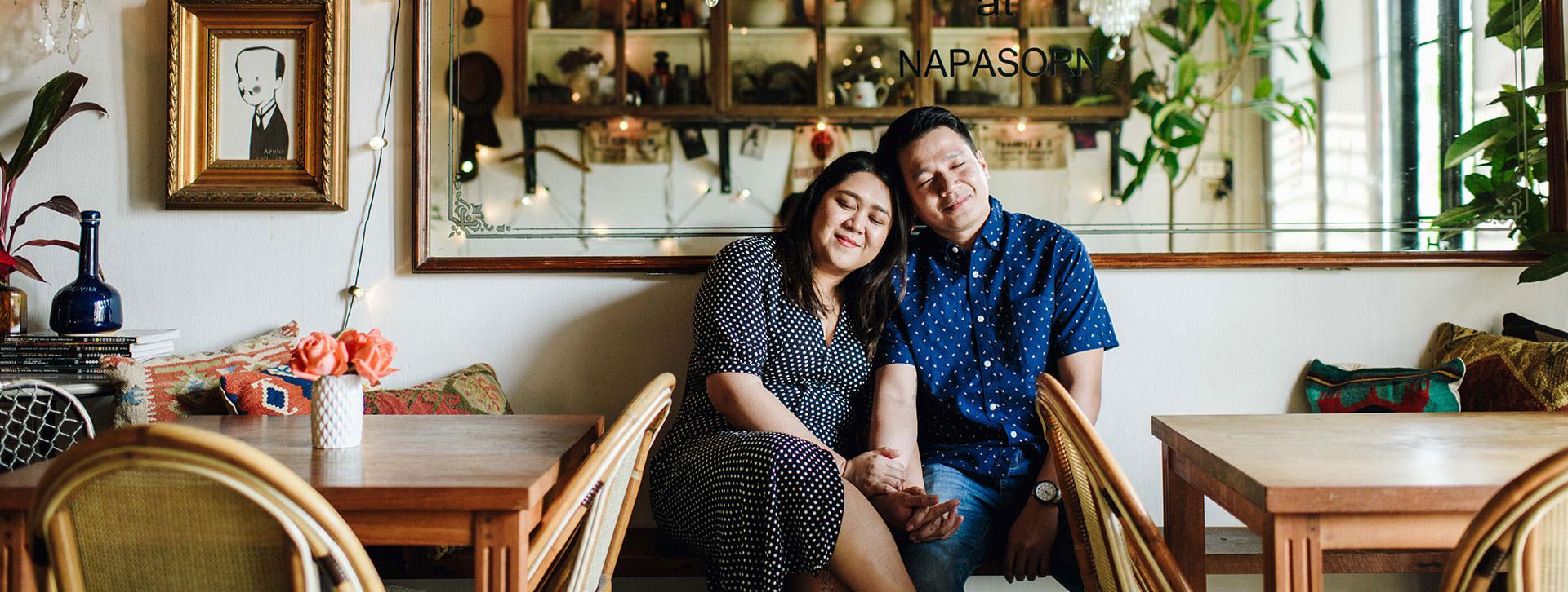 honeymoon in bangkok at wat arun and floral cafe at napasorn cover