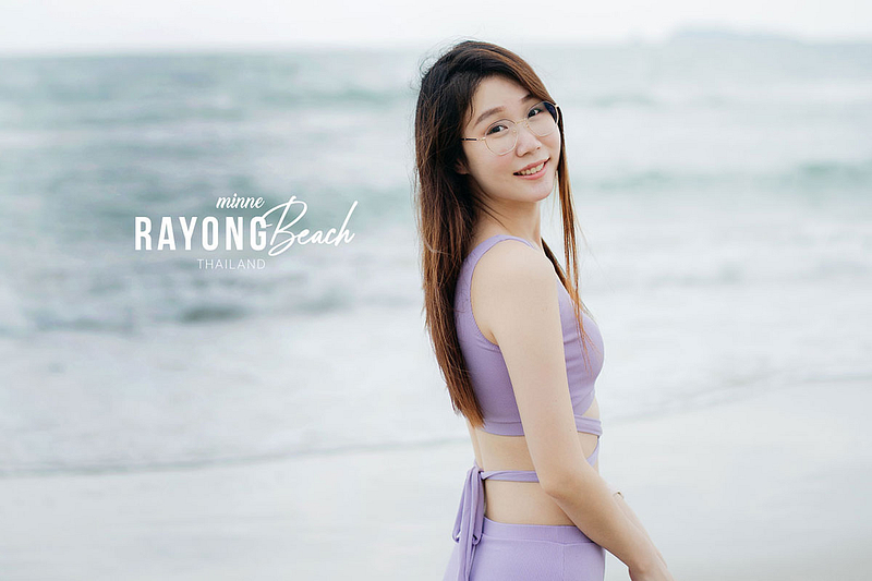 rayong beach thailand with bikini cover 1