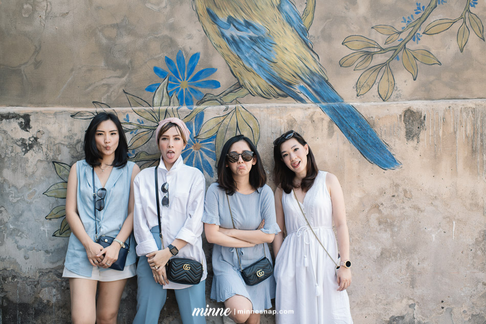 Girl Vacation Bangkok Thailand Group Portrait with Friends