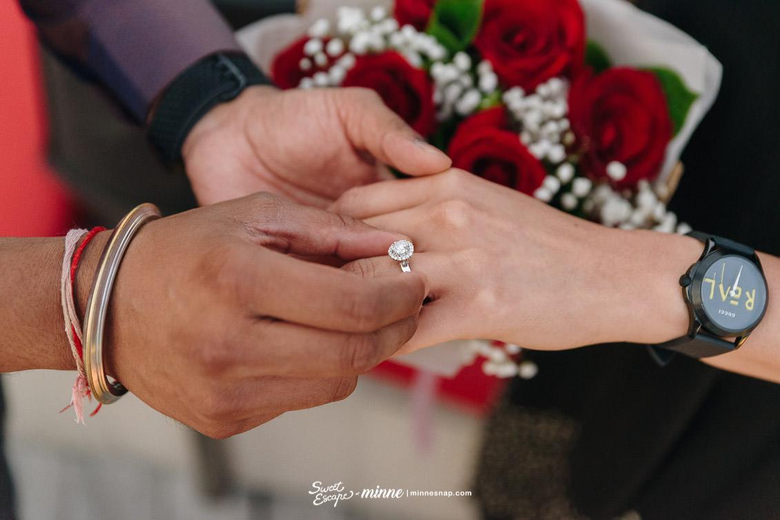 cru champagne bar wedding proposal 8