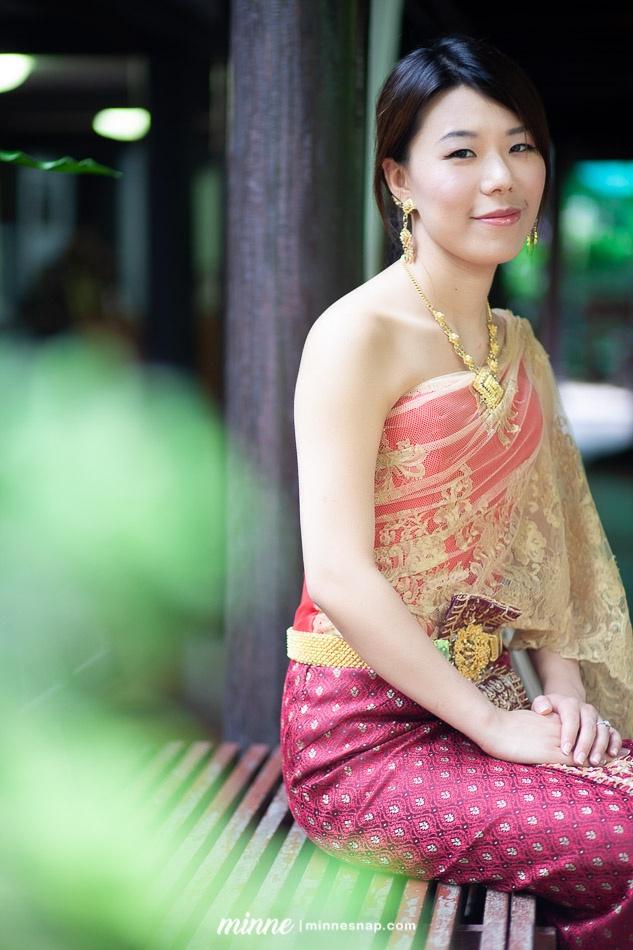 Taiwan Girl in Thai Traditional Dress at Thai House