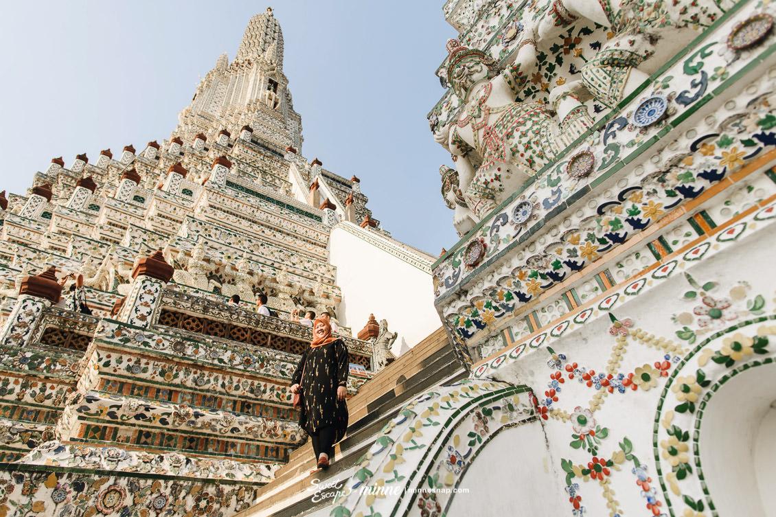 Memorable Wat Arun Bangkok Dyah with Mom วัดอรุณราชวรารามราชวรมหาวิหาร
