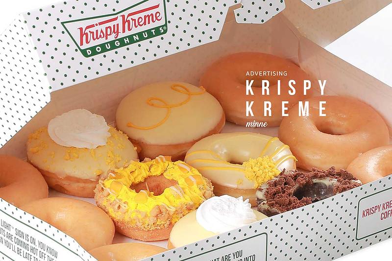 krispy kreme product photoshoot cover