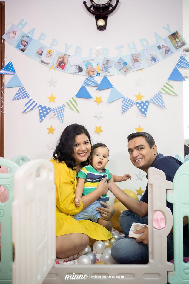 Sam's One Year Old Birthday Photoshoot Bangkok with Family