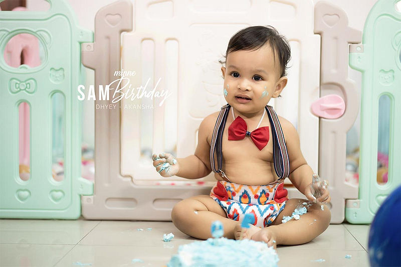 one year birthday party indian family cover