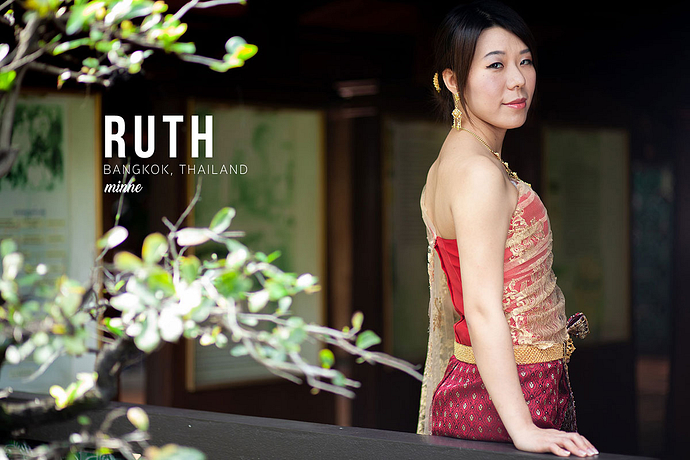 taiwan girl in thai traditional costume cover