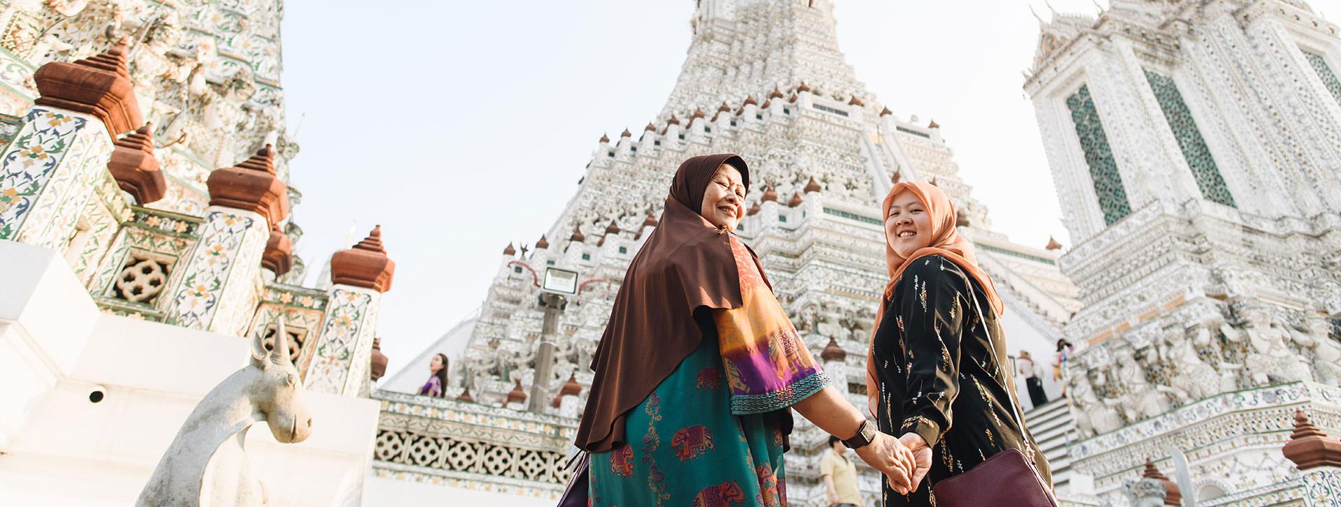 wat arun bangkok photo with mom cover